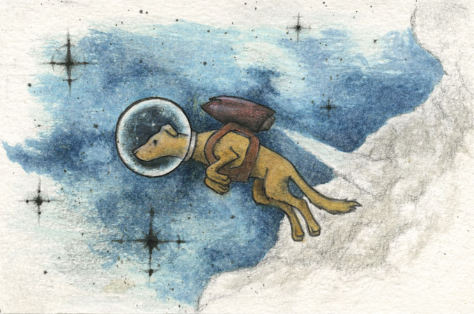 Space Dog IN COLOR